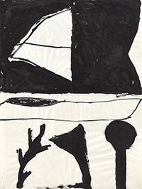Hanns Schimansky, o. T. | 1987  Tusche | Faltung | 100 x 75 cm